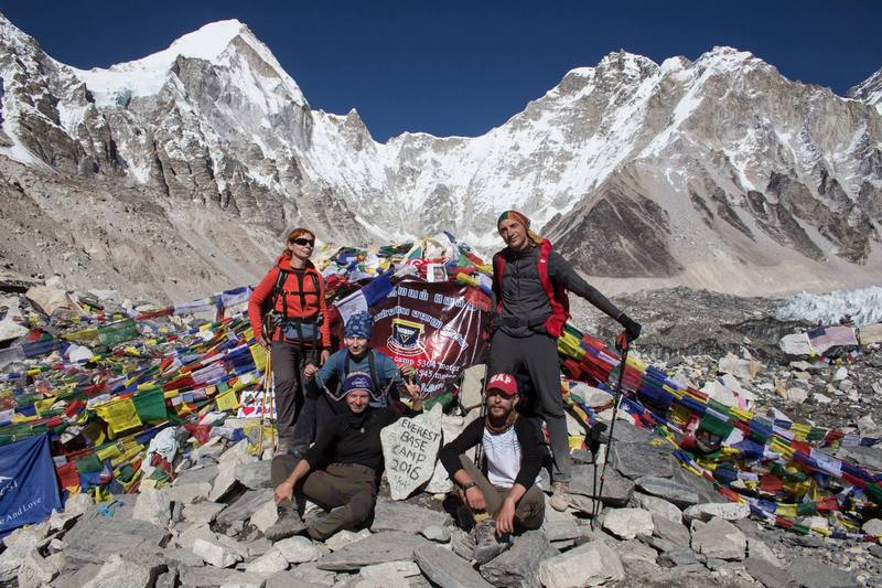 туристы в базовом лагере Эвереста
