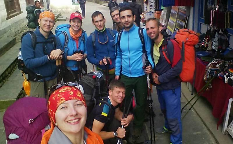 Участники и гиды трека к Эвересту