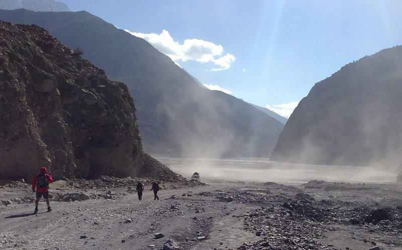 Пылевая буря в Непале