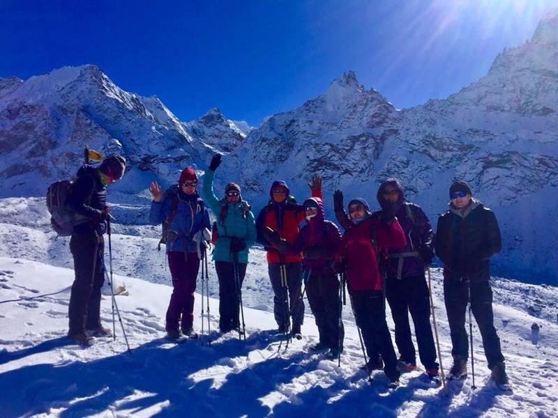 Группа на перевале Чо-Ла