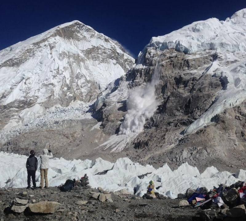 Фото лавина в Непале 2