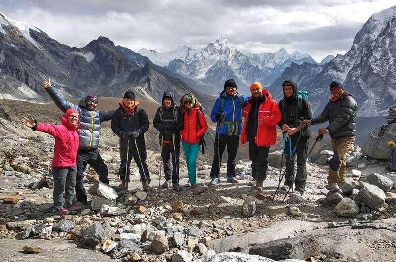 Группа на перевале Чо Ла