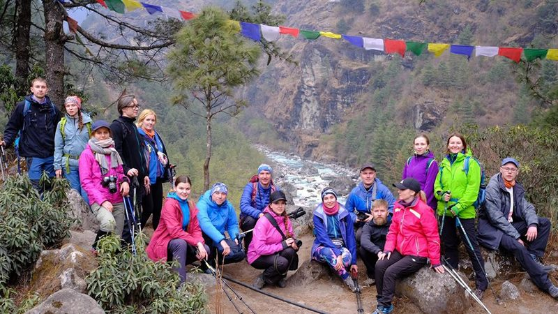 Группа треккинга в Непале
